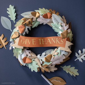 Printable Paper Wreath for Thanksgiving