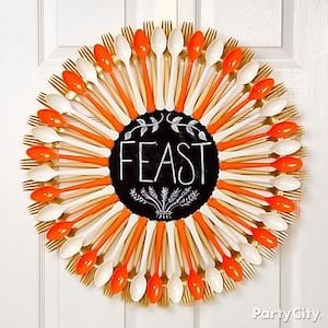 Fork and Spoon Thanksgiving Wreath