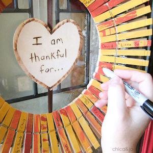 Thanksgiving Thankful Clothespin Wreath