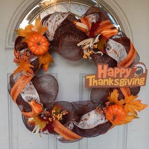 Thanksgiving Deco Mesh Wreaths