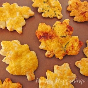 Cheesy Crescent Roll Leaves
