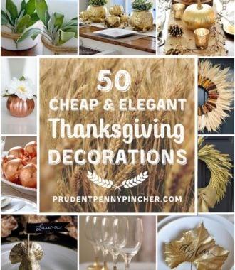 50 Cheap and Elegant DIY Thanksgiving Decorations