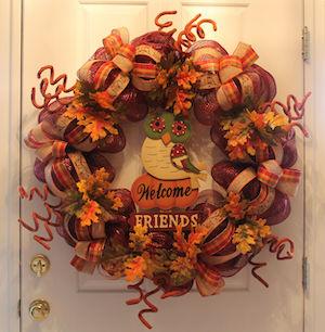Thanksgiving Deco Mesh Wreath