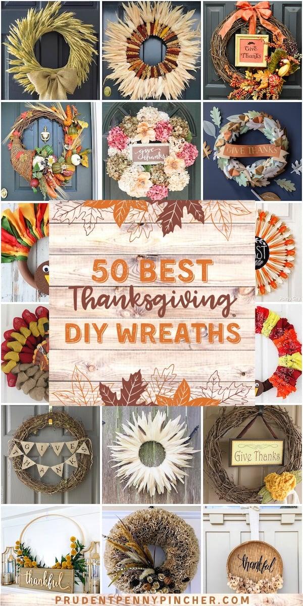 50 Best DIY Thanksgiving Wreaths