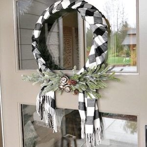 Buffalo Check Christmas Wreath.100 Diy Buffalo Check Christmas Decor Ideas Prudent Penny