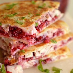 Turkey Cranberry Sauce Quesadillas