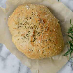 No Knead Whole Wheat Rosemary Bread