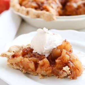 Instant Pot Caramel Apple Pie (Naturally Sweetened) Thanksgiving Dessert