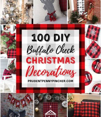 100 DIY Buffalo Check Christmas Decorations