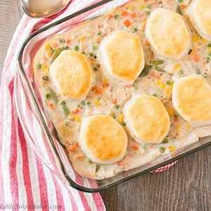 Leftover Turkey and Biscuit Casserole recipe
