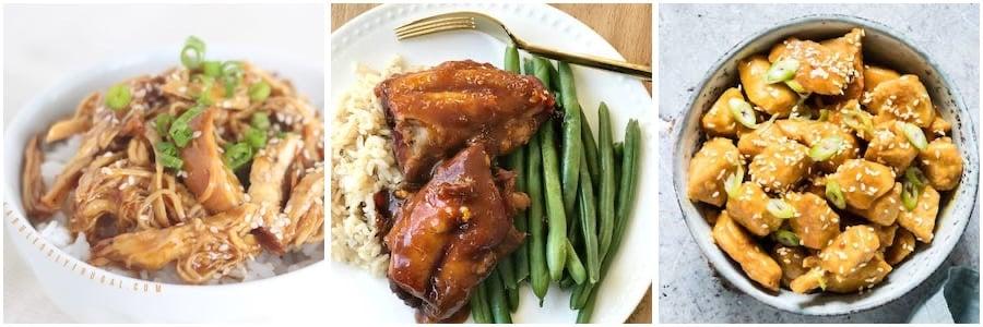 asian chicken dinners