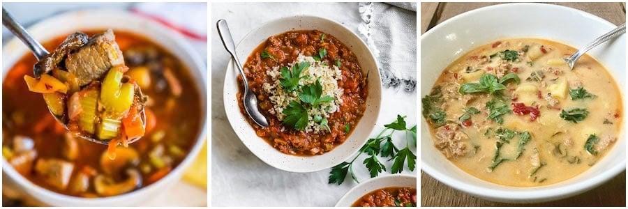 instant pot Beef, Pork & Turkey Weight watcher Soups