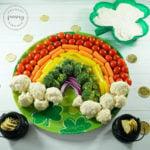 Rainbow Vegetable Platter with Dip