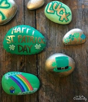 St Patrick's Day Rocks