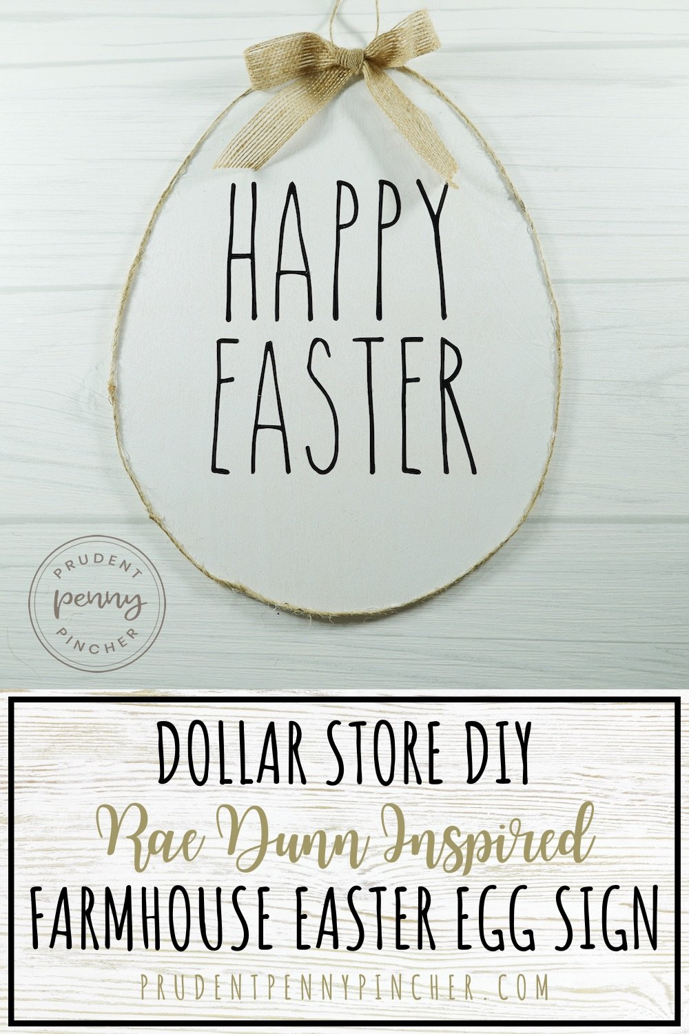 Dollar Store DIY Farmhouse Easter Sign