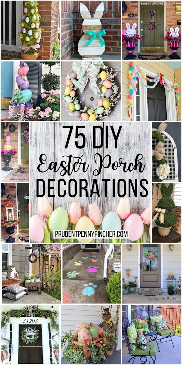 75 Diy Front Porch Easter Decorations Prudent Penny Pincher