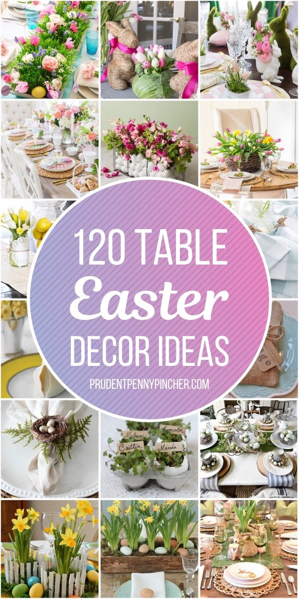 120 Diy Table Easter Decorations Prudent Penny Pincher