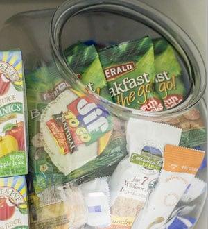 Cookie Jar Snack Pantry Organization