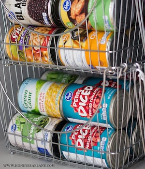 Wire Basket Canned Foods Pantry Organization