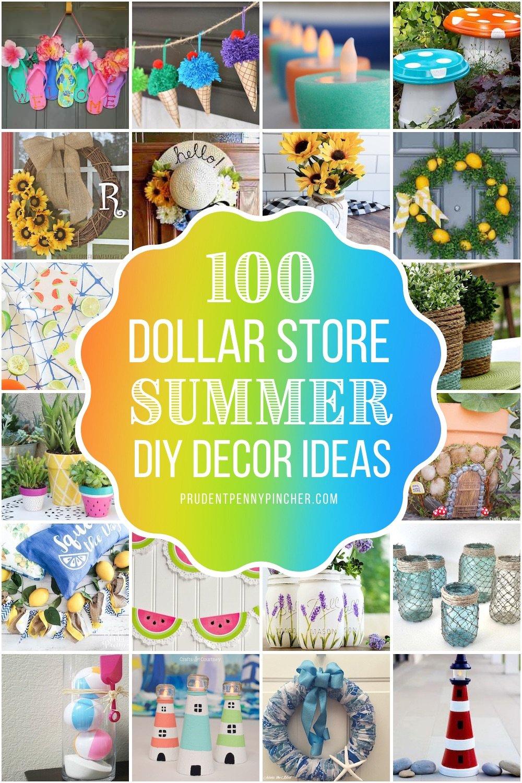 100 Dollar Store DIY Summer Decor Ideas