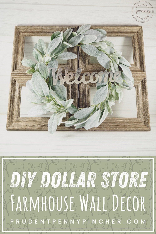 Diy Dollar Store Farmhouse Wall Decor Prudent Penny Pincher