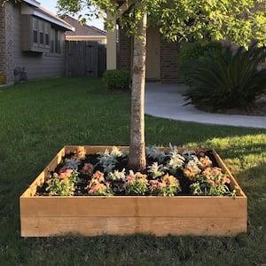 Raised Garden Bed Around Tree