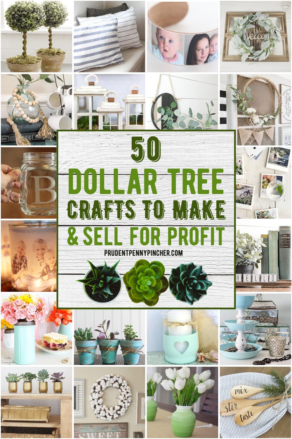 50 Dollar Tree Crafts to Make and Sell for Profit