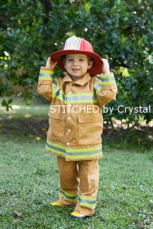 DIY Fireman Costume for boys