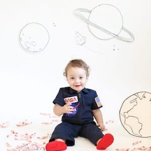 Baby Astronaut DIY Halloween Costume