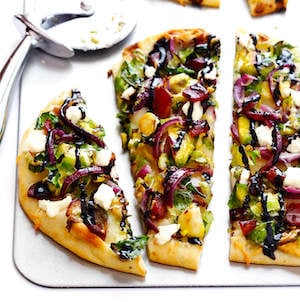 Brussels Sprouts and Bacon Flatbread Pizza