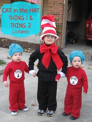 Cat in the Hat, Thing 1 & 2 Costumes