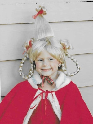 Cindy Lou Who girls halloween Costume