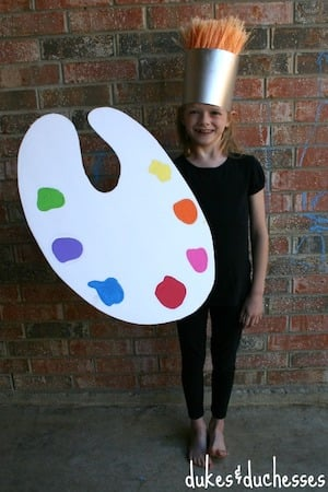 quick and easy Paint Brush Palette Costume