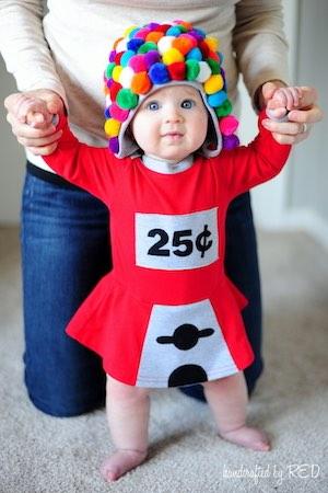 DIY Baby Gum Ball Machine Costume