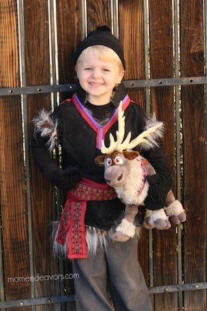 DIY Frozen's Kristoff halloween Costume for boys