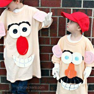 Easy Customizable Mr. Potato Head Costumes
