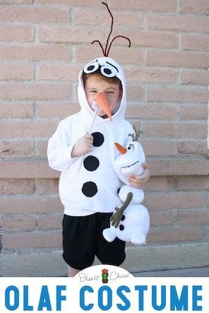 DIY Olaf Costume for kids