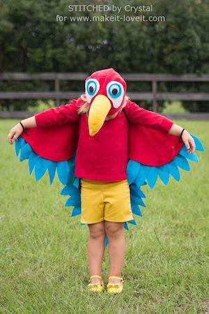 Easy Homemade Parrot Costume