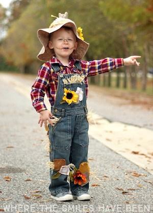 easy DIY Scarecrow Costume