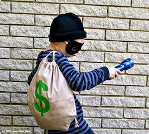 easy diy Bank Robber halloween costume