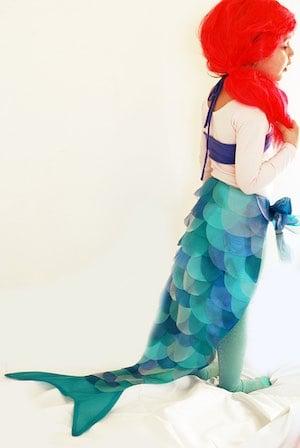 DIY Mermaid girls halloween Costume
