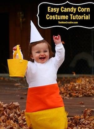 DIY easy Candy Corn Costume