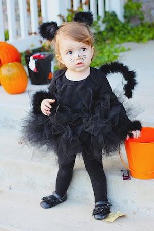 DIY Black Cat toddler halloween Costume