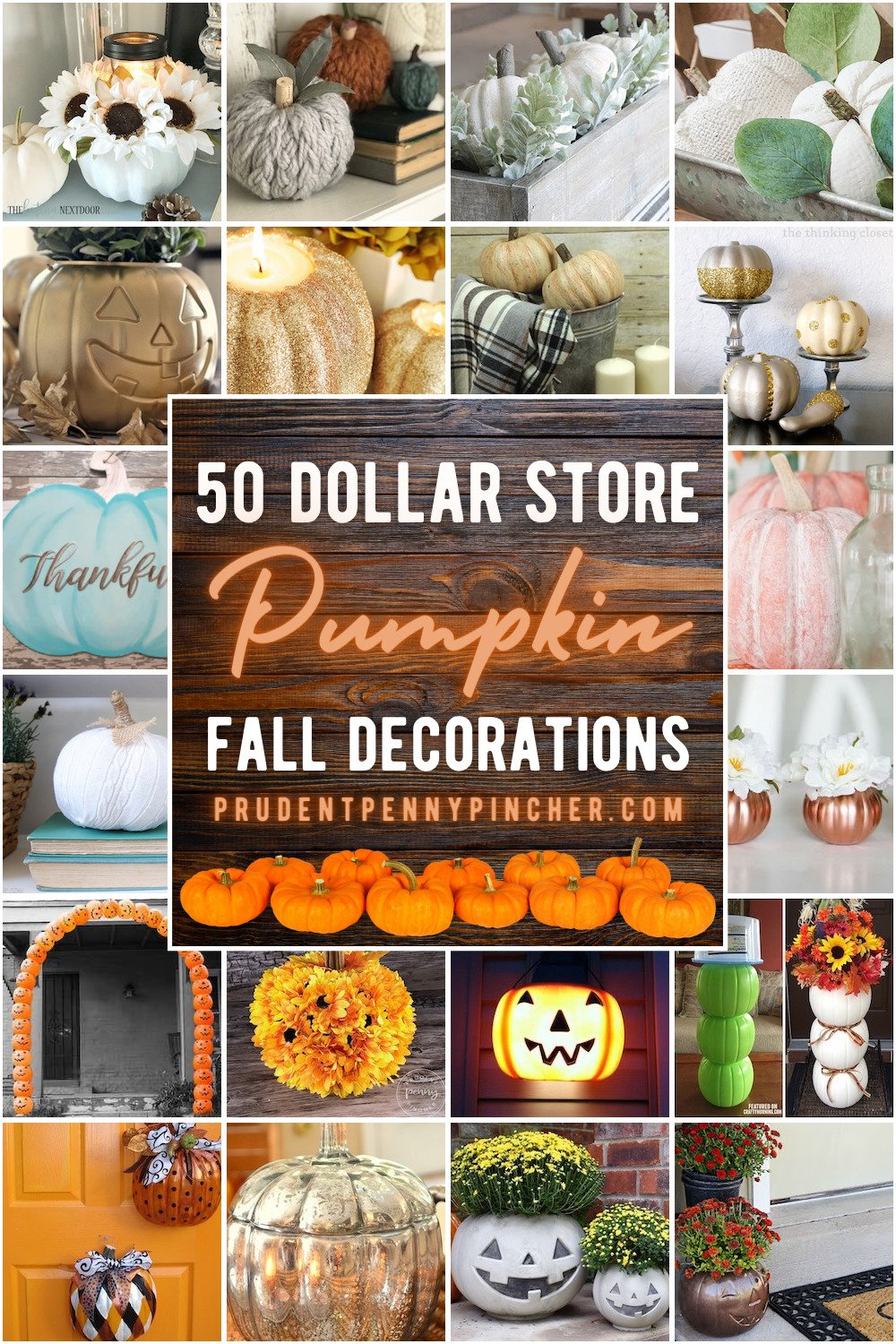 50 Dollar Store Pumpkin Fall Decor Ideas Prudent Penny Pincher