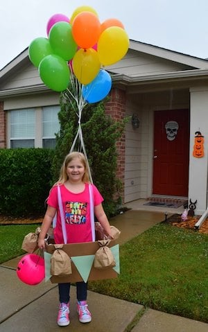 DIY Hot Air Balloon halloween costume for kids