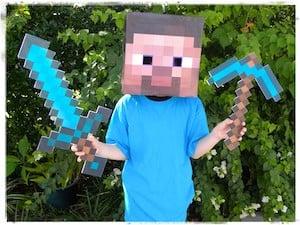 Cheap Minecraft Steve Costume