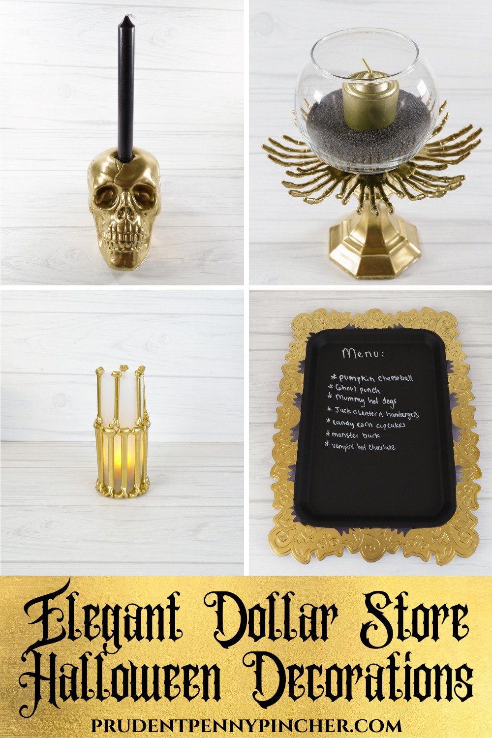 black and gold dollar store halloween decorations