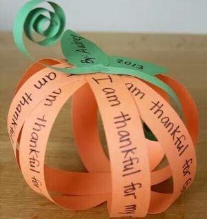 Thanksgiving Gratitude Pumpkin Craft for kids
