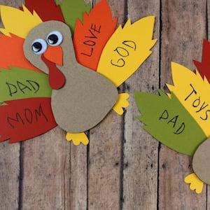 Cardboard Gratitude Turkey thanksgiving craft for kids
