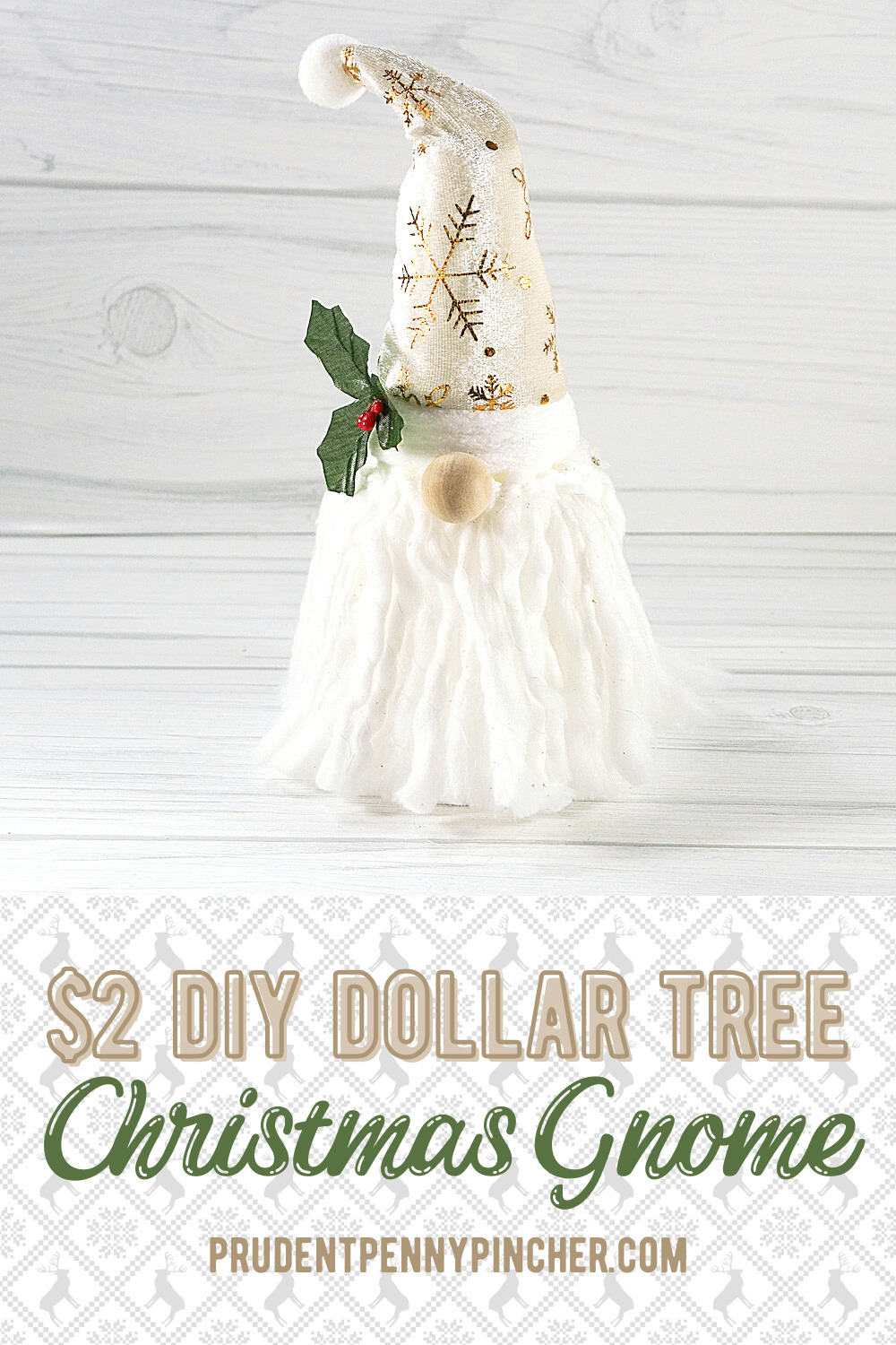 Easy Gnome Dollar Tree Christmas Craft Prudent Penny Pincher